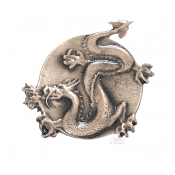 Asian Dragon Urn Emblem Bronze