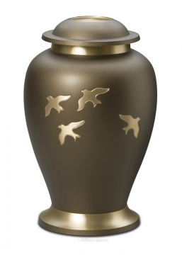 Avondale Russet Brown Brass Cremation Urn