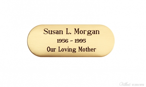 Brass Engraving Plaque - Oval