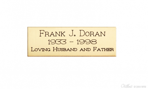 Brass Engraving Plaque - Rectangle