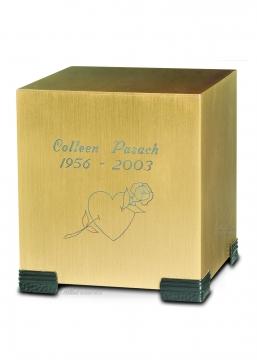 Bronze Cube Cremation Urn