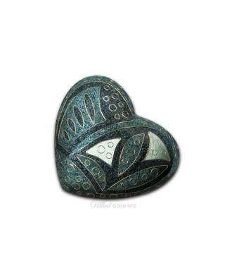 Emerald Anasazi™Heart Cremation Memento