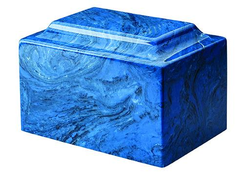 Mystic Blue Cultured Marble Urn
