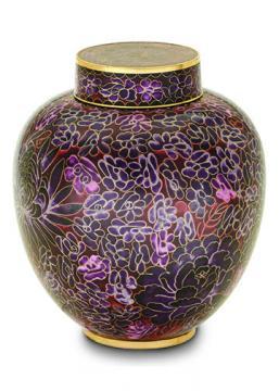 Lilac Cloisonne Urn