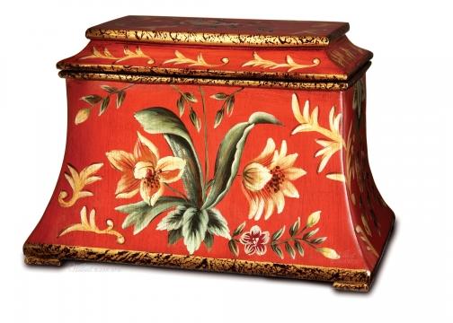 Wilbert Red Flora Cremation Urn