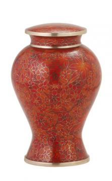 Autumn Leaves Cloisonné Cremation Urn