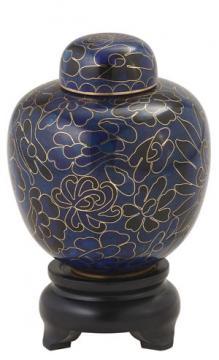 Blue Cloisonné Cremation Memento