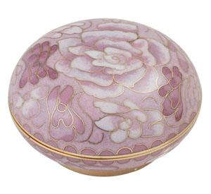 Cameo Rose Cloisonné Memory Holder