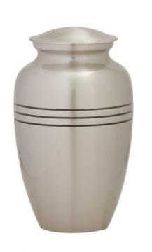 Classic Pewter Metal Cremation Urn