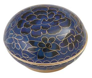 Blue Cloisonné Memory Holder