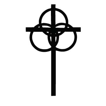 Cross with 3 Rings
