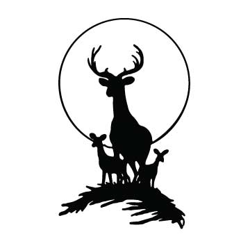Deer (Family with circle)