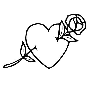 Heart (With Rose)
