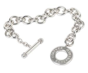 Forever Remembered Sterling Silver Cremation Bracelet