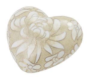 Opal Cloisonné Heart Cremation Memento