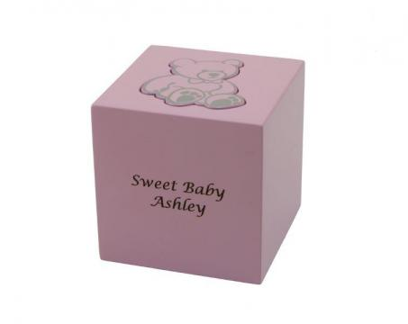 Teddy Bear Box Urn Pink