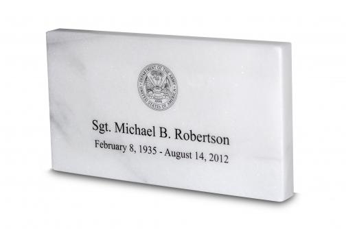 Marble Temporary Grave Marker