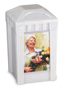 I Remember Urn - Pearl Plastic w/1 picture pane