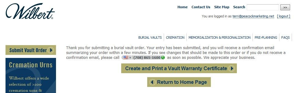 Create and Print Vault Warranty